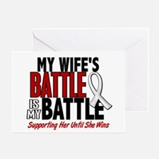 My Battle Too 1 PEARL WHITE (Wife) Greeting Card