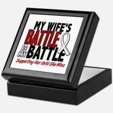 My Battle Too 1 PEARL WHITE (Wife) Keepsake Box