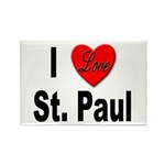 I Love St. Paul Minnesota Rectangle Magnet (10 pac