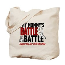 My Battle Too 1 PEARL WHITE (Mommy) Tote Bag