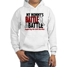 My Battle Too 1 PEARL WHITE (Mommy) Hoodie