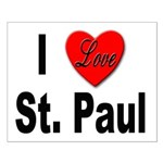 I Love St. Paul Minnesota Small Poster