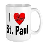 I Love St. Paul Minnesota Large Mug
