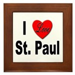 I Love St. Paul Minnesota Framed Tile