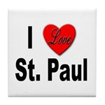 I Love St. Paul Minnesota Tile Coaster