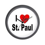 I Love St. Paul Minnesota Wall Clock
