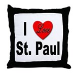 I Love St. Paul Minnesota Throw Pillow