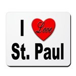 I Love St. Paul Minnesota Mousepad