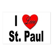 I Love St. Paul Minnesota Postcards (Package of 8)