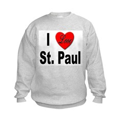 I Love St. Paul Minnesota (Front) Sweatshirt