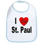 I Love St. Paul Minnesota Bib