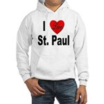 I Love St. Paul Minnesota (Front) Hooded Sweatshir