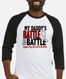 My Battle Too 1 PEARL WHITE (Daddy) Baseball Jerse