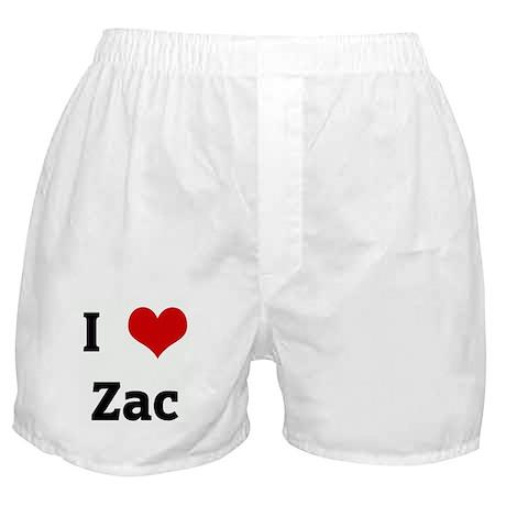 I Love Zac Boxer Shorts