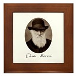 Framed Tile featuring Charles Darwin
