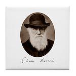 Tile Coaster featuring Charles Darwin
