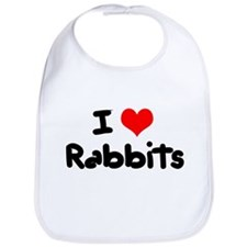 I Love Rabbits Bib