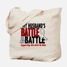 My Battle Too 1 PEARL WHITE (Husband) Tote Bag