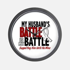 My Battle Too 1 PEARL WHITE (Husband) Wall Clock