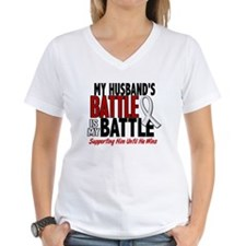 My Battle Too 1 PEARL WHITE (Husband) Shirt