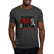 My Battle Too 1 PEARL WHITE (Husband) T-Shirt