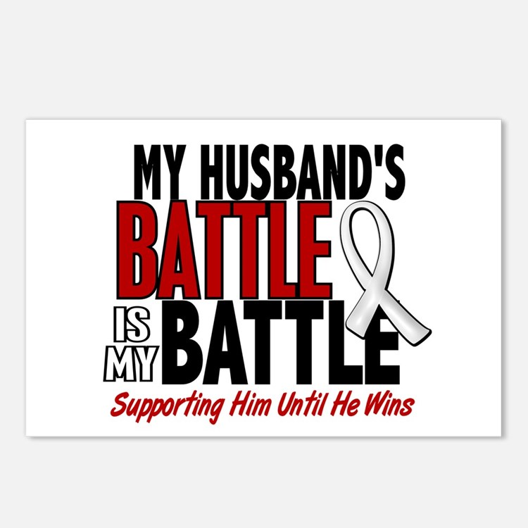 My Battle Too 1 PEARL WHITE (Husband) Postcards (P