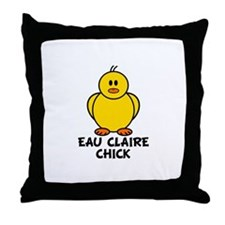 Eau Claire Chick Throw Pillow