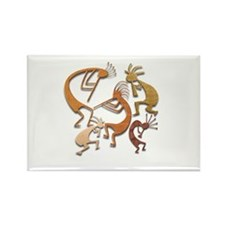 Five Wood Kokopelli Rectangle Magnet