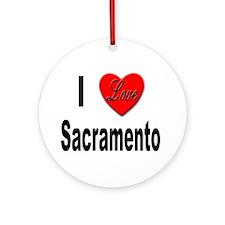 I Love Sacramento California Ornament (Round)