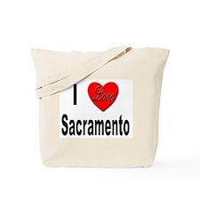 I Love Sacramento California Tote Bag