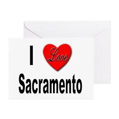 I Love Sacramento California Greeting Cards (Packa