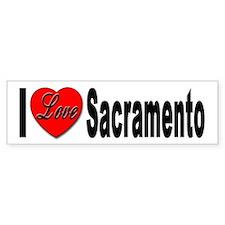I Love Sacramento California Bumper Bumper Sticker