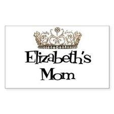 Elizabeth's Mom Rectangle Decal