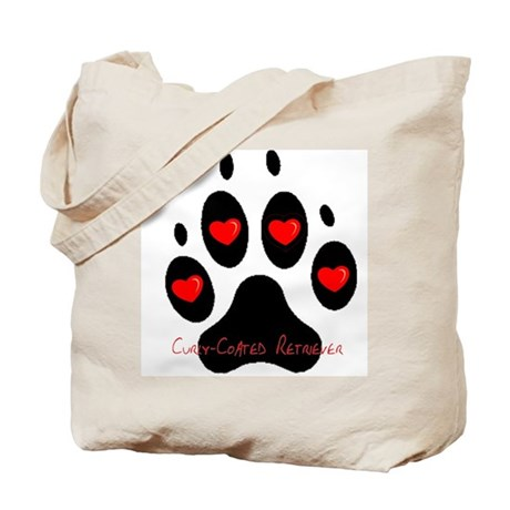 """Curly Coated Retriever"" Tote Bag"
