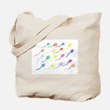 color burst sperm Tote Bag