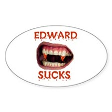 BITE ME EDWARD Oval Decal