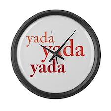 """""""Yada Yada Yada"""" Large Wall Clock"""