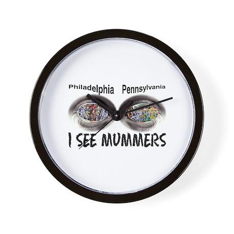 i see mummers 1 Wall Clock