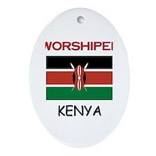 I'm Worshiped In KENYA Oval Ornament