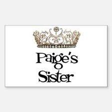 Paige's Sister Rectangle Decal