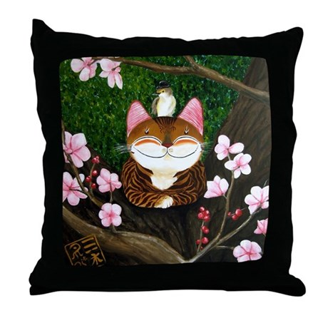 5 elements - WOOD Throw Pillow