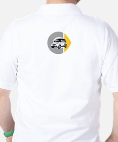 What's Your Color? White Smart Car Golf Shirt