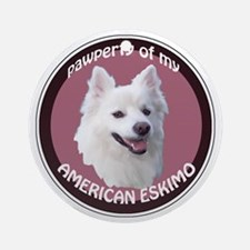American Eskimo Pawperty Ornament (Round)