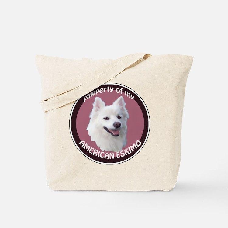 American Eskimo Pawperty Tote Bag