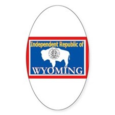 Wyoming-4 Oval Decal