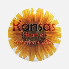 Kansas, Heart of the West Ornament (Round)
