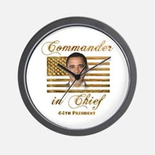 Commander in Chief Wall Clock