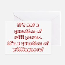 Willingness (red) Greeting Card