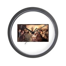 Jesus Eats with Disciples Wall Clock