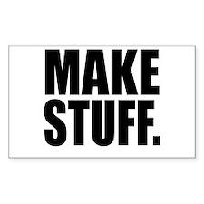 """Make Stuff"" Rectangle Bumper Stickers"